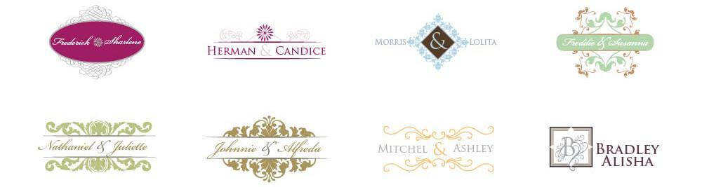 Wedding Monogram Designs