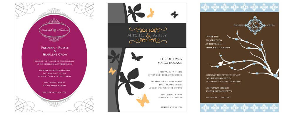 Free Wedding Invitations by DesignMantic – Wedding Card Invitations